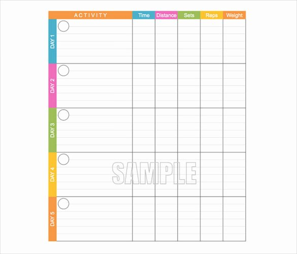 Workout Log Template Excel New Workout Log Template – 14 Free Word Excel Pdf Vector