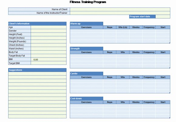 Workout Log Template Excel Unique Workout Chart for Excel