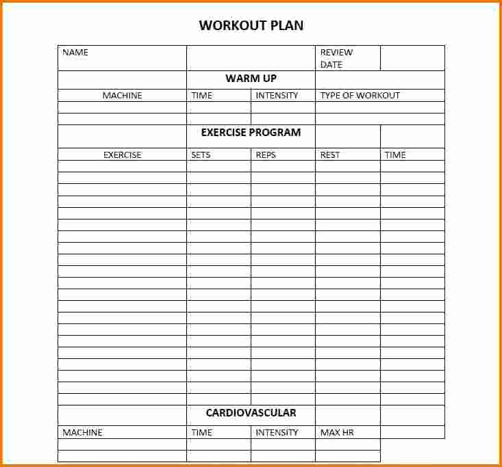 Workout Plan Template Excel Beautiful Cathe Workout Sheets – Eoua Blog