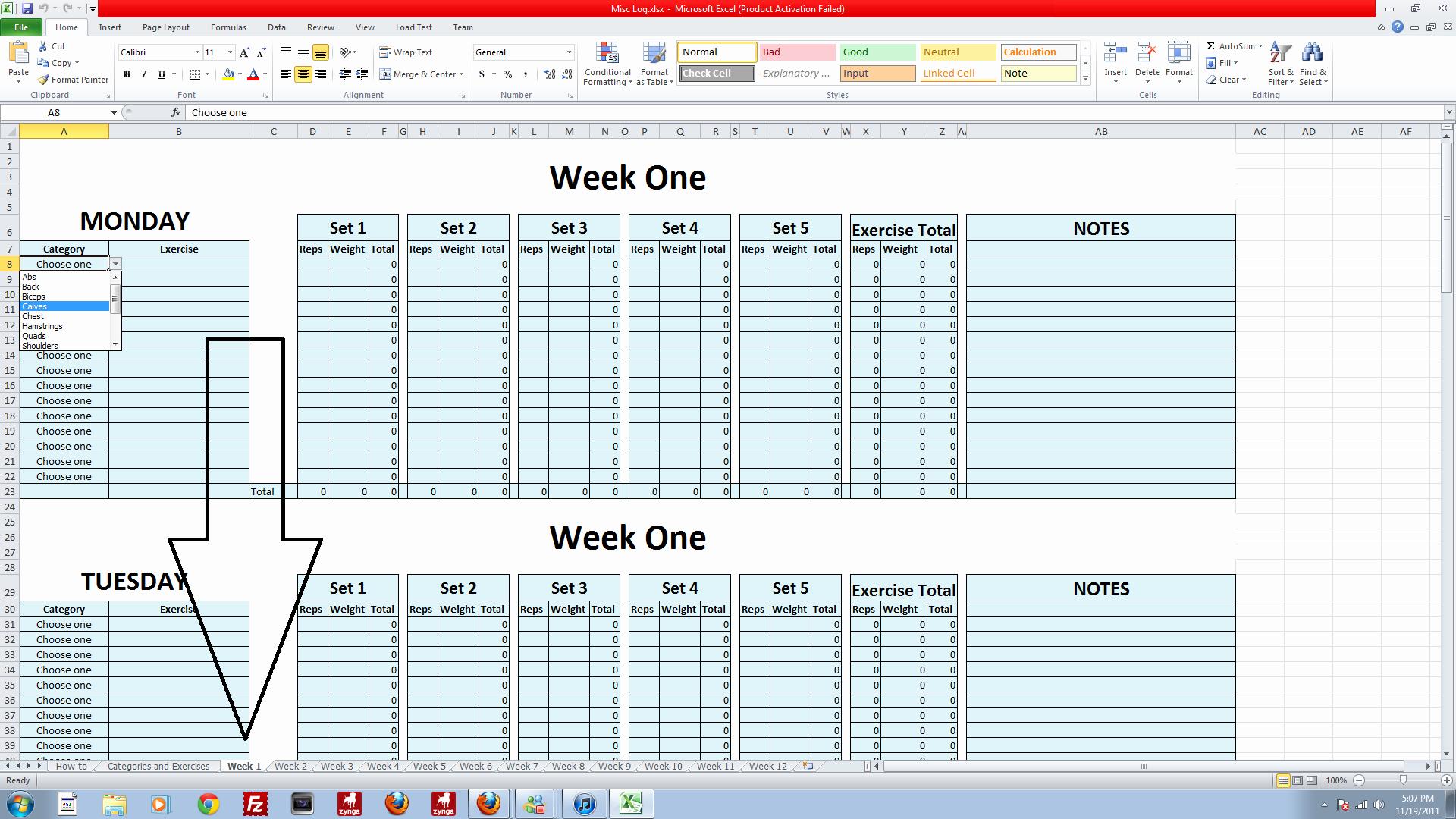 Workout Plan Template Excel Best Of Powerlifting Workout Program Excel – Blog Dandk