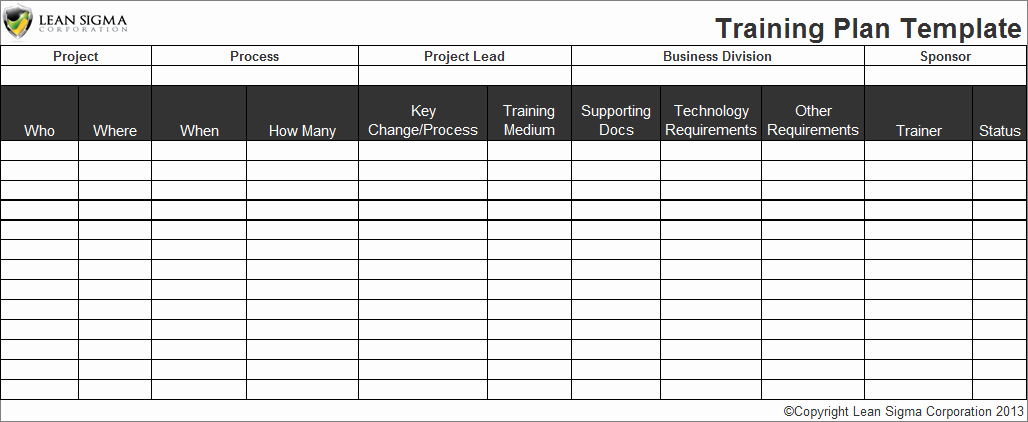 Workout Plan Template Excel Luxury Employee Training Plan Template