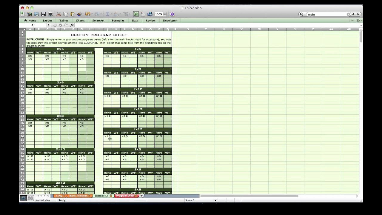 Workout Plan Template Excel Luxury Personal Training Excel Spreadsheet From Excel Training