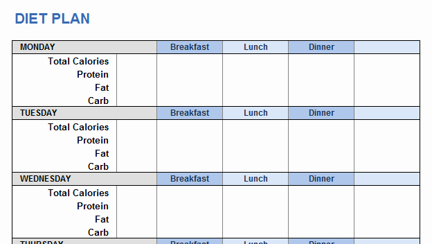 Workout Plan Template Excel New Weight Training Plan Template for Excel