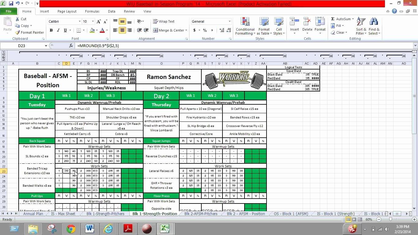 Workout Plan Template Excel Unique Phul Workout Excel – Eoua Blog
