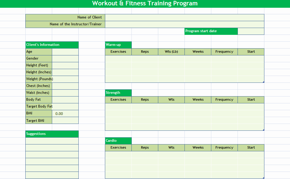 Workout Schedule Template Excel Best Of Daily Workout Calendar 2018 Template Excel Word Pdf