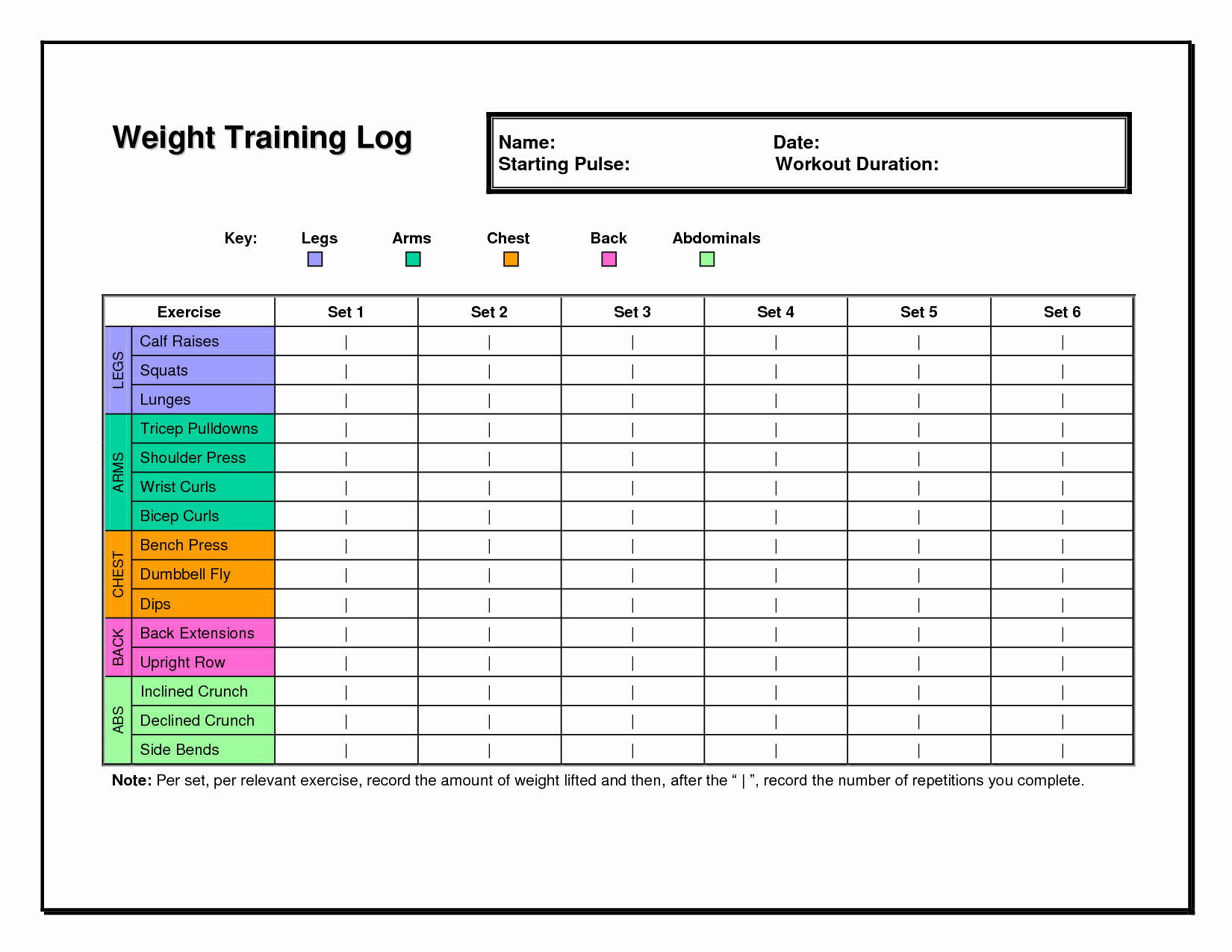 Workout Schedule Template Excel Inspirational 6 Best Of Workout Chart Template Excel Weight