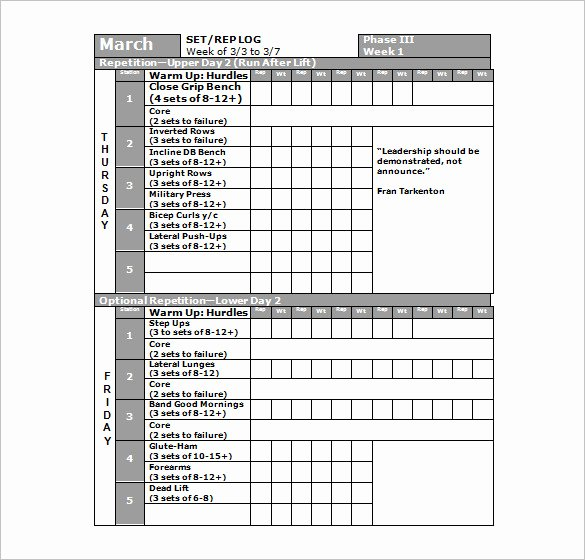 Workout Schedule Template Excel Luxury 22 Workout Schedule Templates Pdf Doc