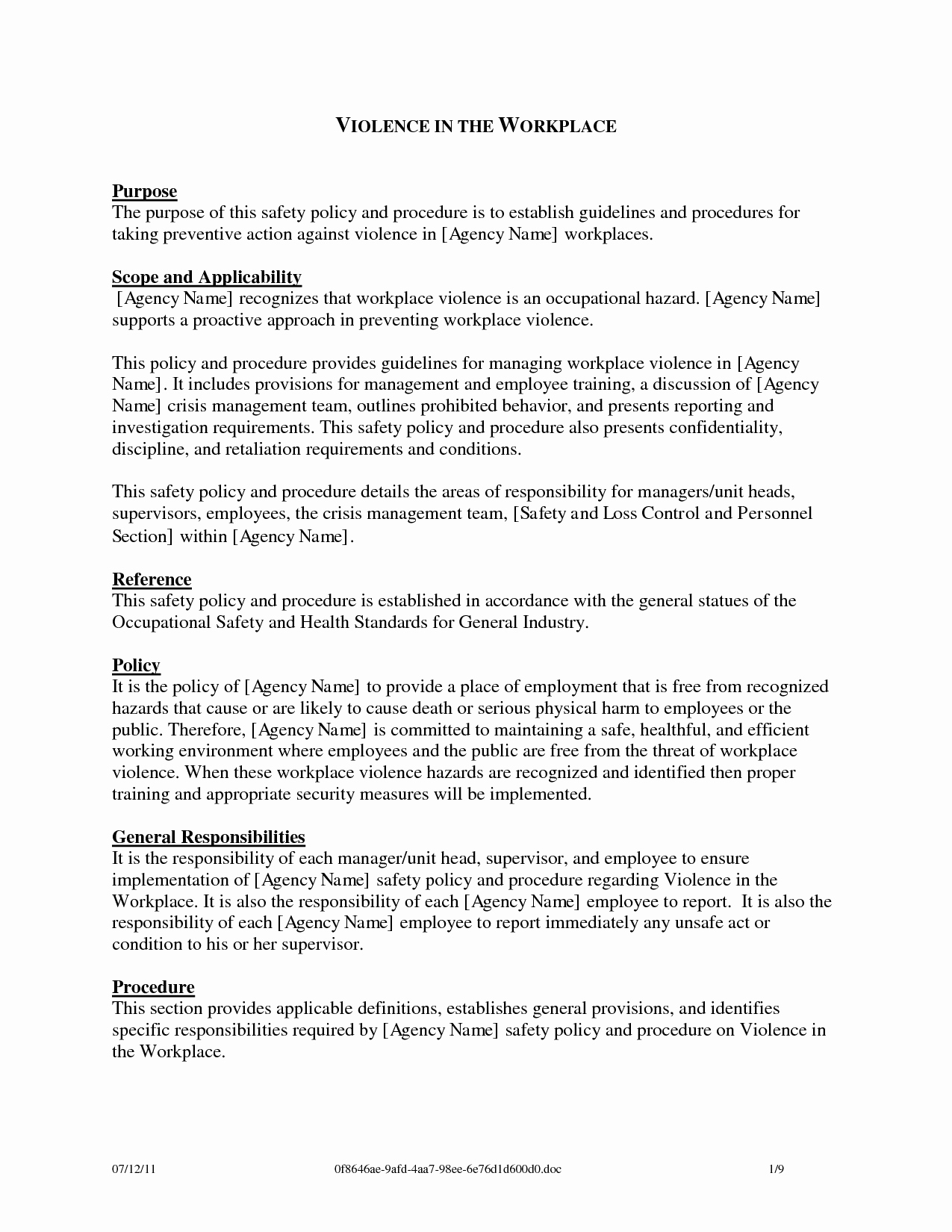 Workplace Investigation Report Template Awesome Best S Of Workplace Violence Reporting form