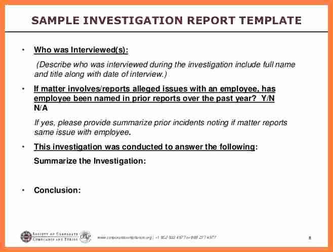 Workplace Investigation Report Template Beautiful 4 Employee Investigation Report Template