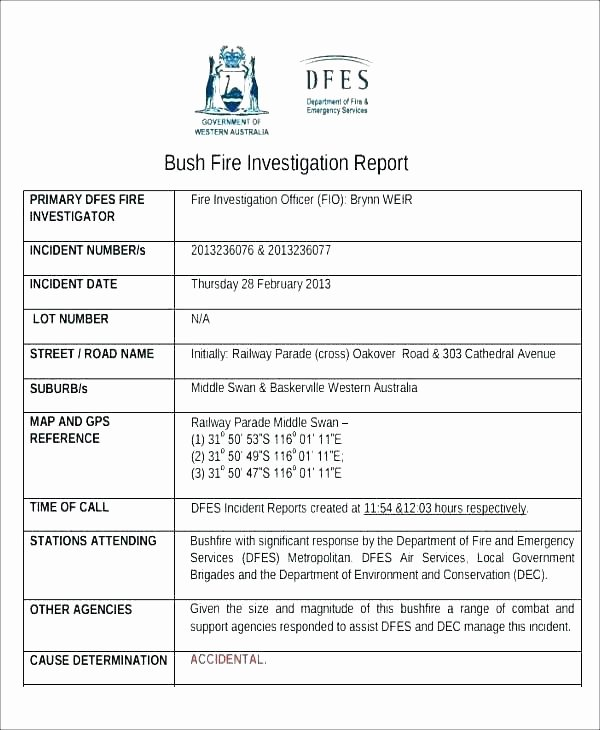 hr investigation report form template human resources workplace sample ohs incident free gallery design ideas formation