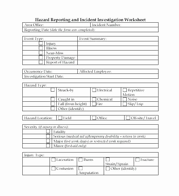 Workplace Investigation Report Template Luxury Incident Investigation Report Template with Accident