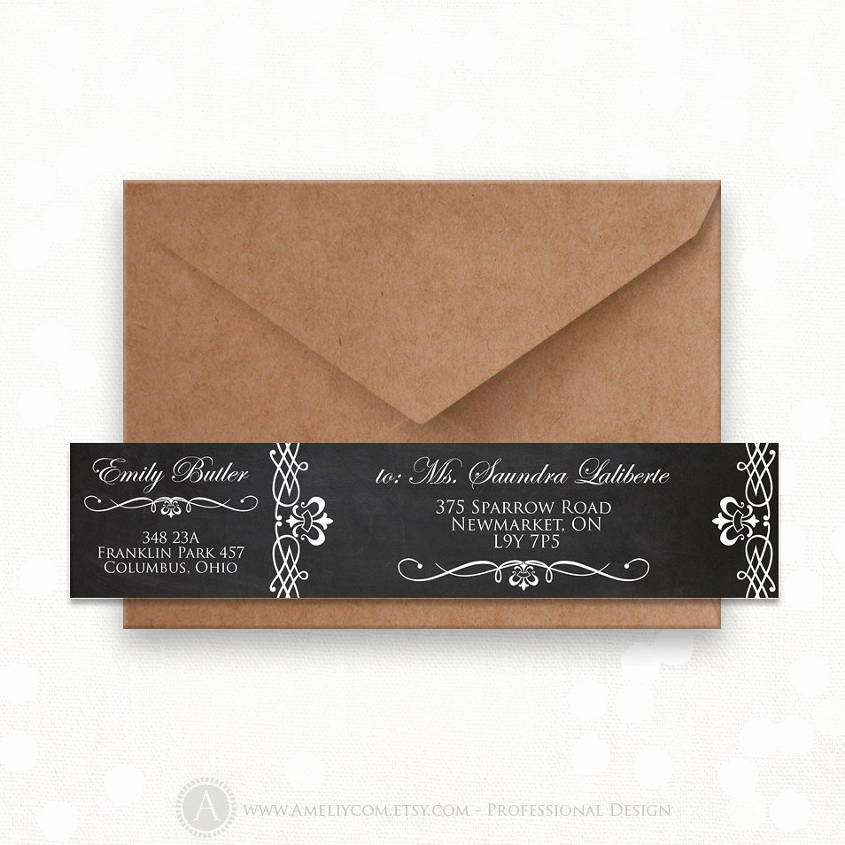 Wrap Around Label Template Best Of Printable Wrap Around Address Labels Editable Instant Download