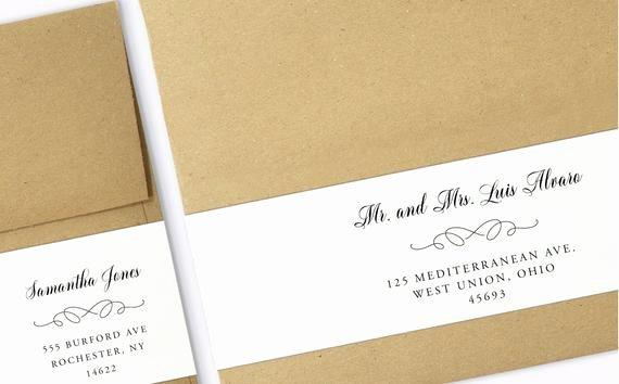 Wrap Around Label Template Elegant Wrap Around Labels Printable Address Labels Wedding