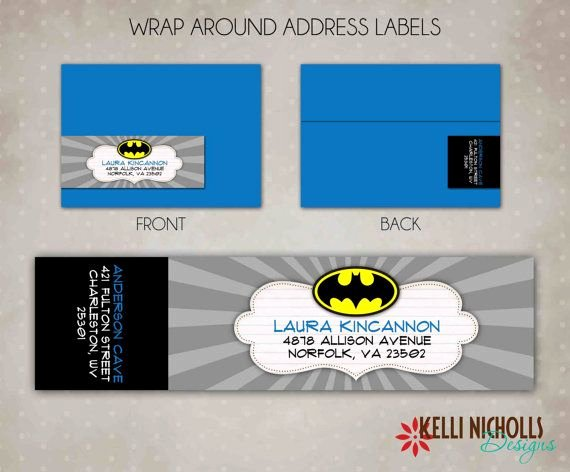 Wrap Around Label Template Luxury Batman Wrap Around Return Address Label Custom Superhero