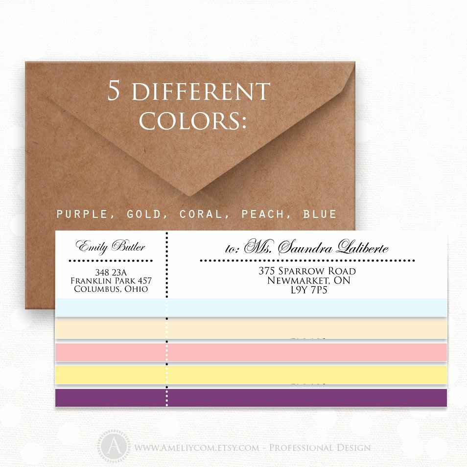 Wrap Around Label Template Luxury Printable Wrap Around Address Labels Editable Instant Download