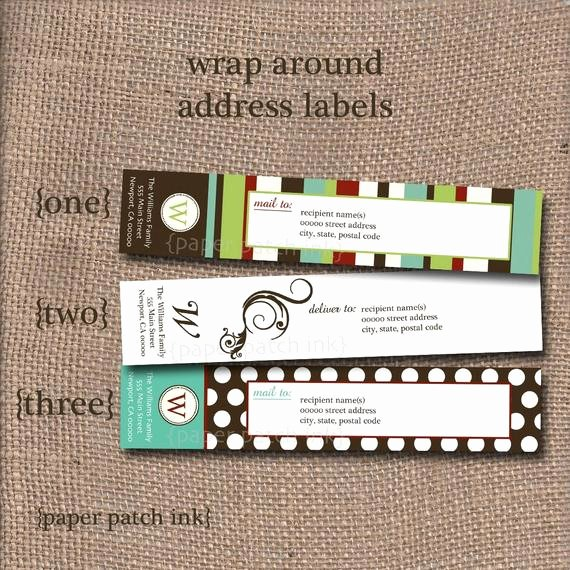 Wrap Around Label Template New Items Similar to Personalized Chic Wrap Around Address