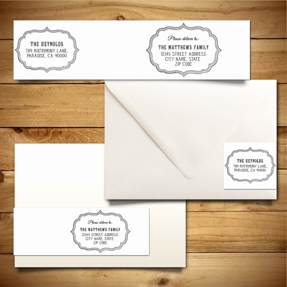 Wrap Around Label Template New Printable Wrap Around Address Label Template for A7