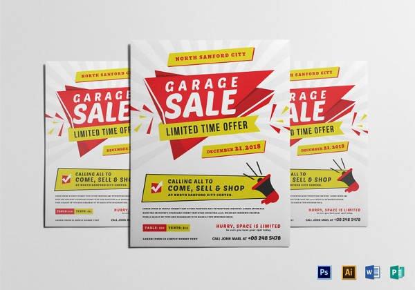 Yard Sale Flyer Template Elegant 27 Yard Sale Flyer Templates