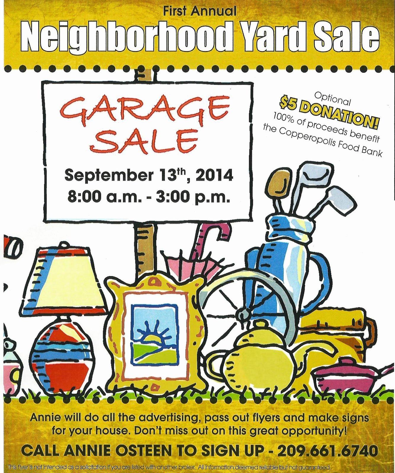 Yard Sale Flyer Template Elegant Copper Gazette Neighborhood Yard Sale