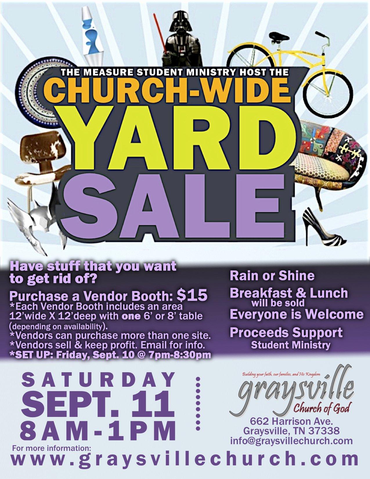 Yard Sale Flyer Template Lovely Church Wide Yard Sale