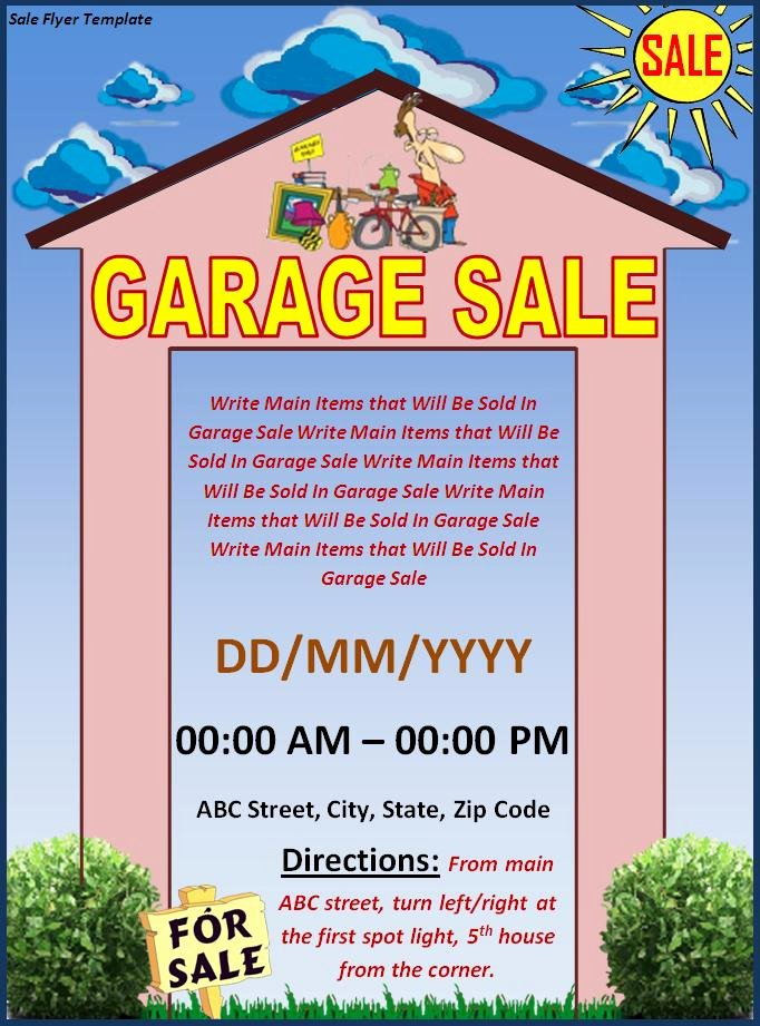 Yard Sale Flyer Template Lovely Flyer Templates