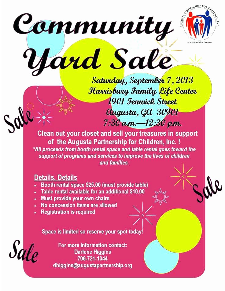 Yard Sale Flyer Template Lovely Yard Sales Flyers Yard Sale Flyers Funny Munity Yard