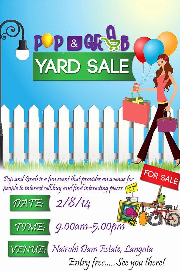 Yard Sale Flyer Template Luxury 21 Best Yard Sale Flyer Templates & Psd Word Eps