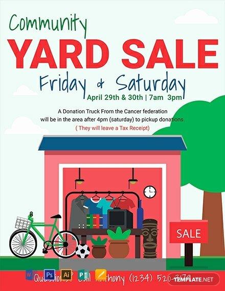 Yard Sale Flyer Template Luxury Free Yard Sale Flyer Template Download 812 Flyers In Psd