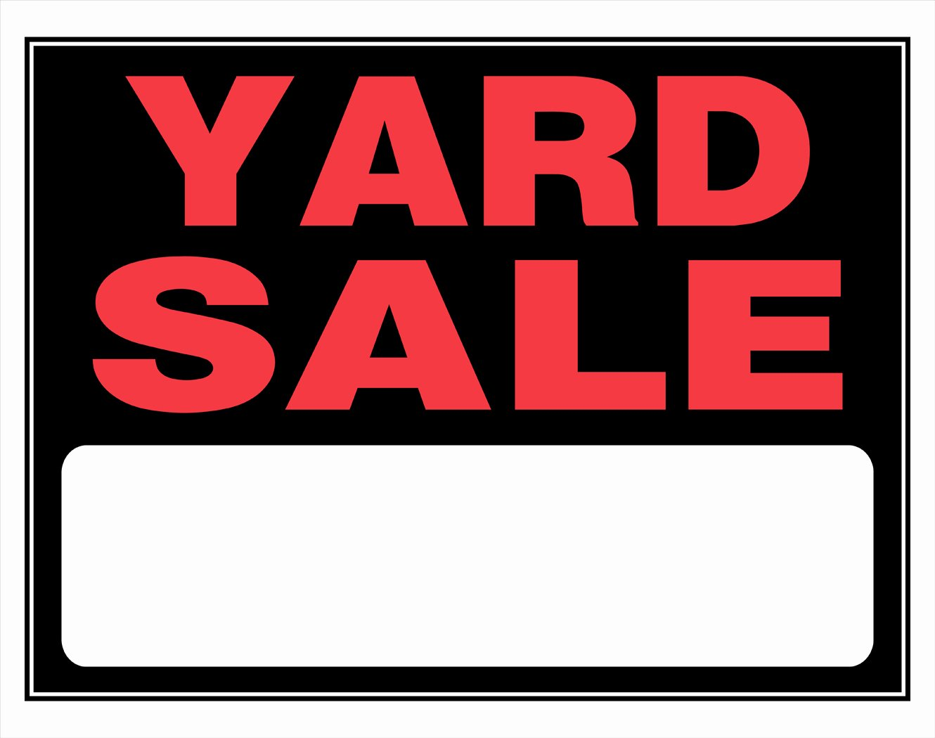 Yard Sale Sign Template Awesome Hiddenbrook Hurricanes Team Yard Sale Help