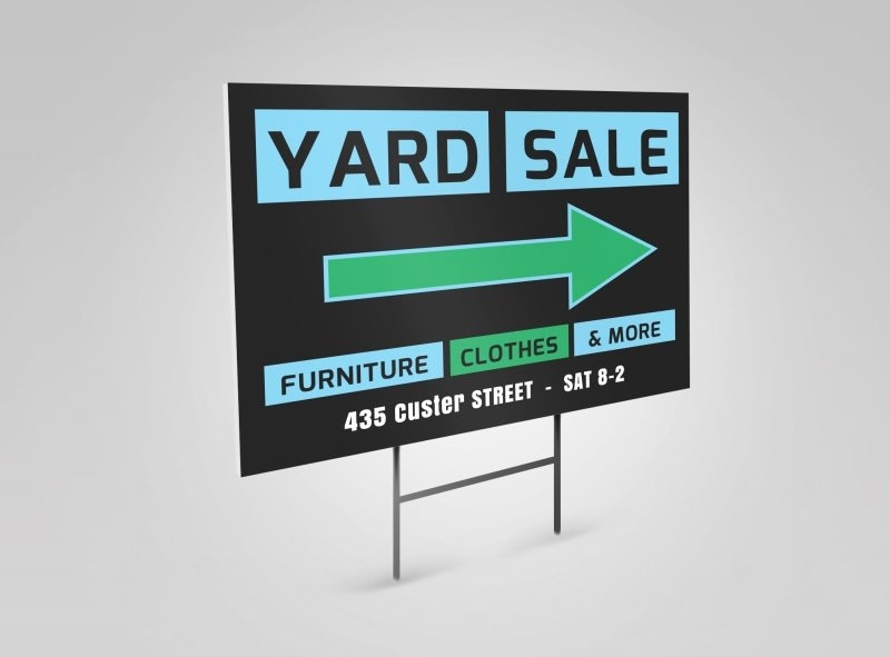 Yard Sale Sign Template Awesome Yard Sale Yard Sign Template