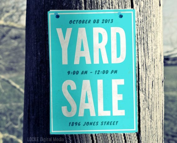 Yard Sale Sign Template Beautiful Yard Sale Sign Instant Print Template Garage Sale Sign