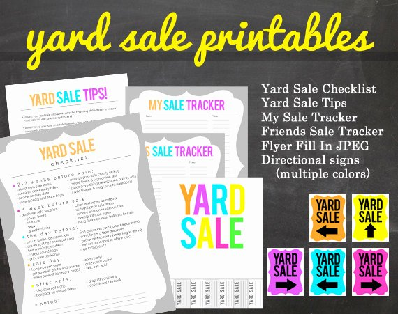 Yard Sale Sign Template Best Of Get organized Yard Sale Printable Pack for Your Yard or