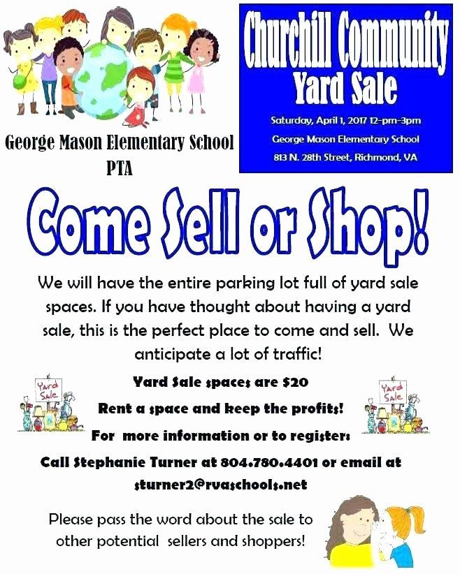 Yard Sale Sign Template Elegant Yard Sales Flyers Yard Sale Flyers Inspirational Munity