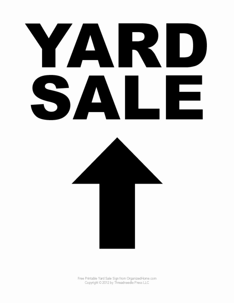 Yard Sale Sign Template Fresh Garage Sale Tips Clear Clutter with A Yard Sale
