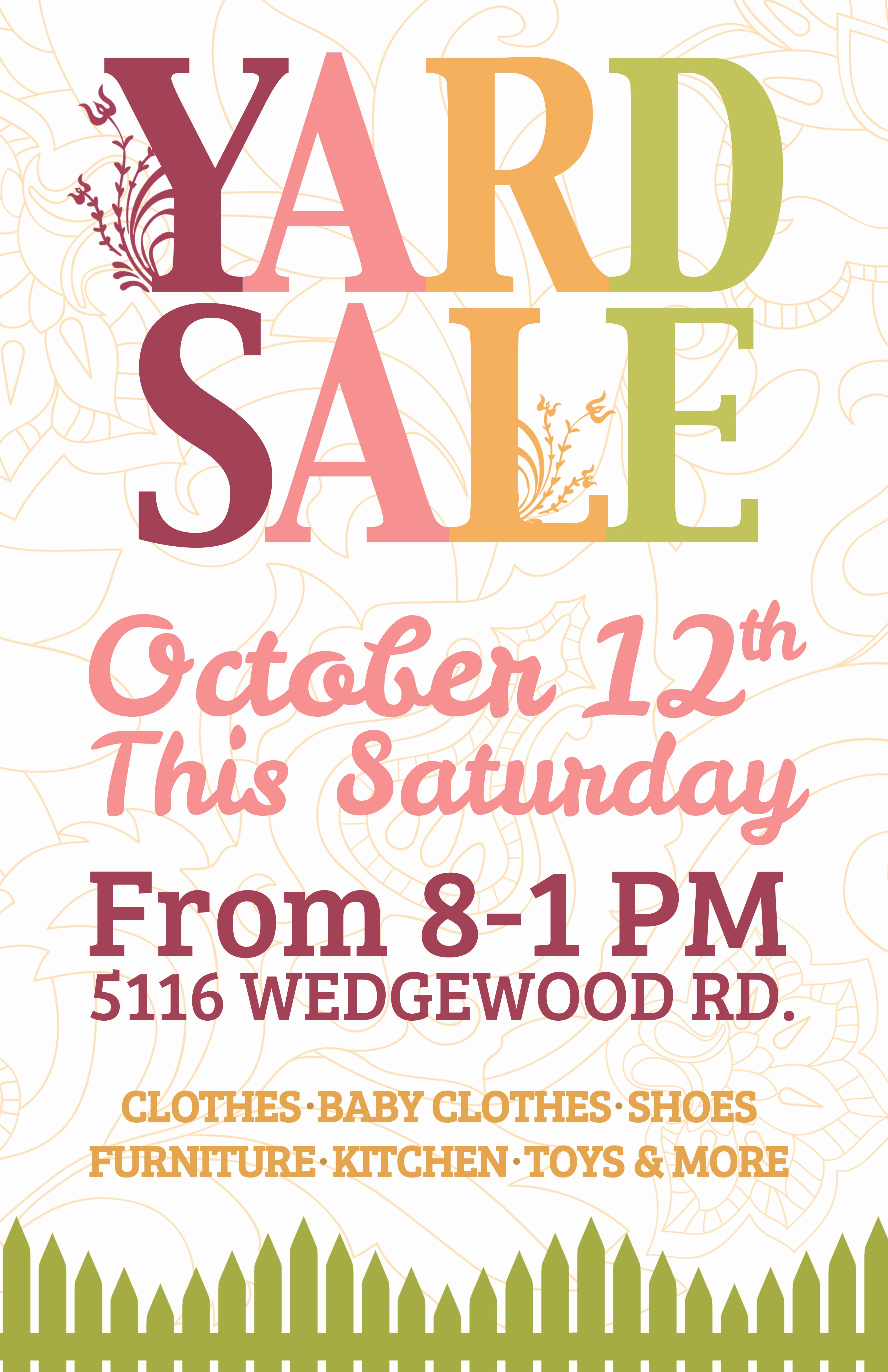 Yard Sale Sign Template Fresh Yep I M Definitely About to Design A Flyer Like This