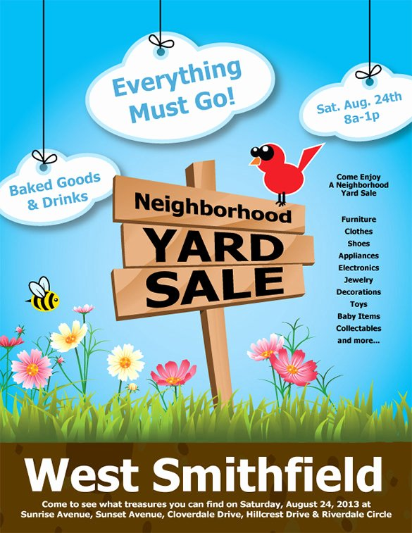 Yard Sale Sign Template Lovely 21 Best Yard Sale Flyer Templates & Psd Word Eps