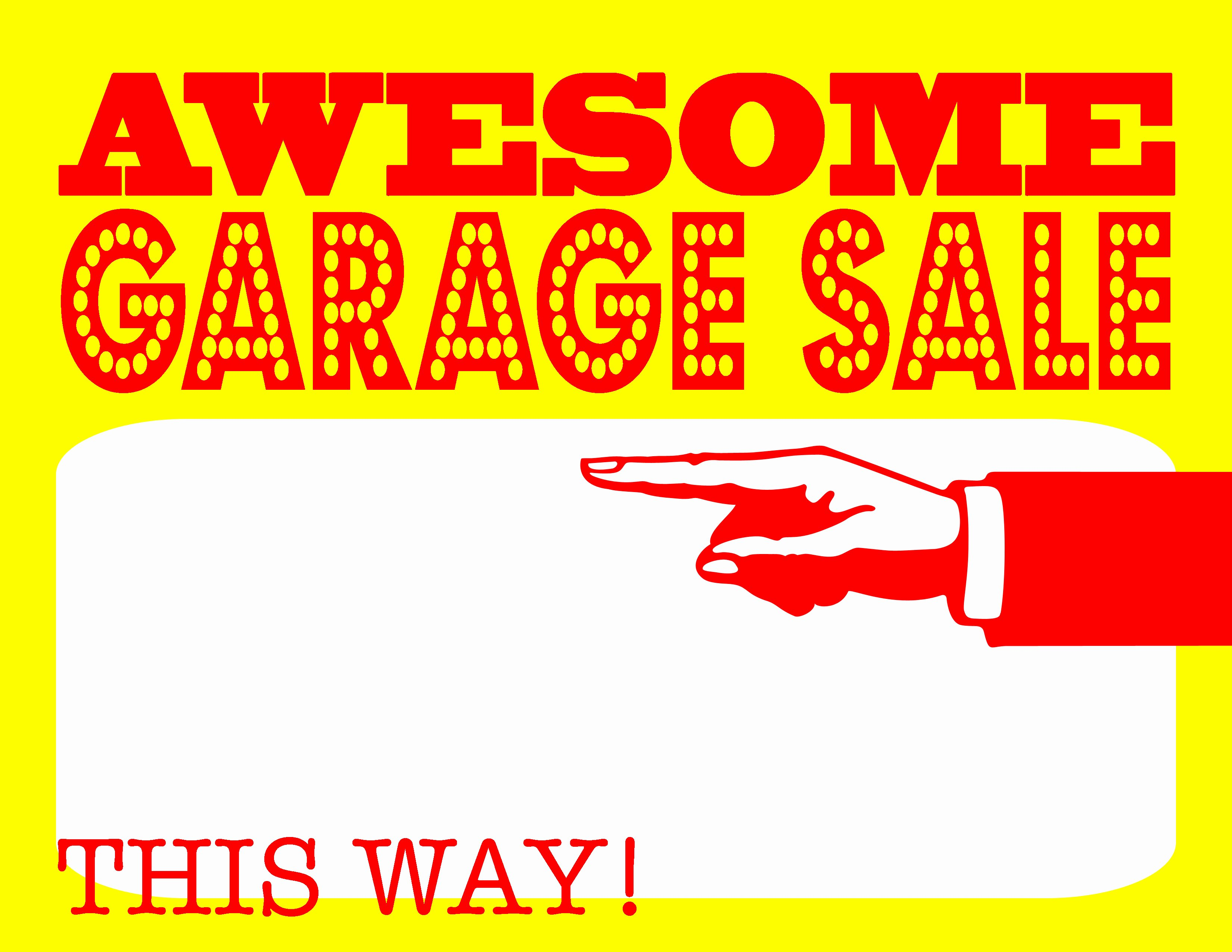 Yard Sale Sign Template Lovely Diy Printable Awesome Garage Sale Signs