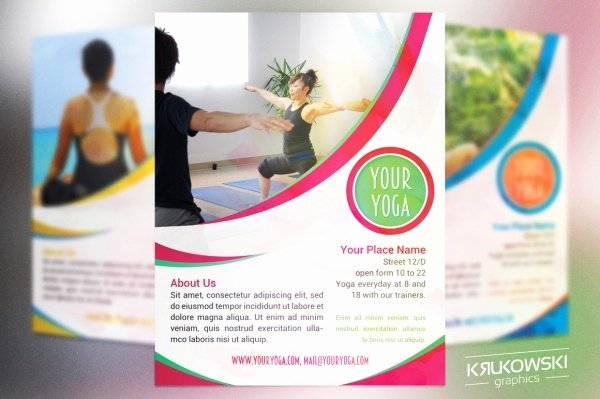 Yoga Flyer Template Free Awesome 35 Fitness Flyer Templates Psd Vector Eps Jpg