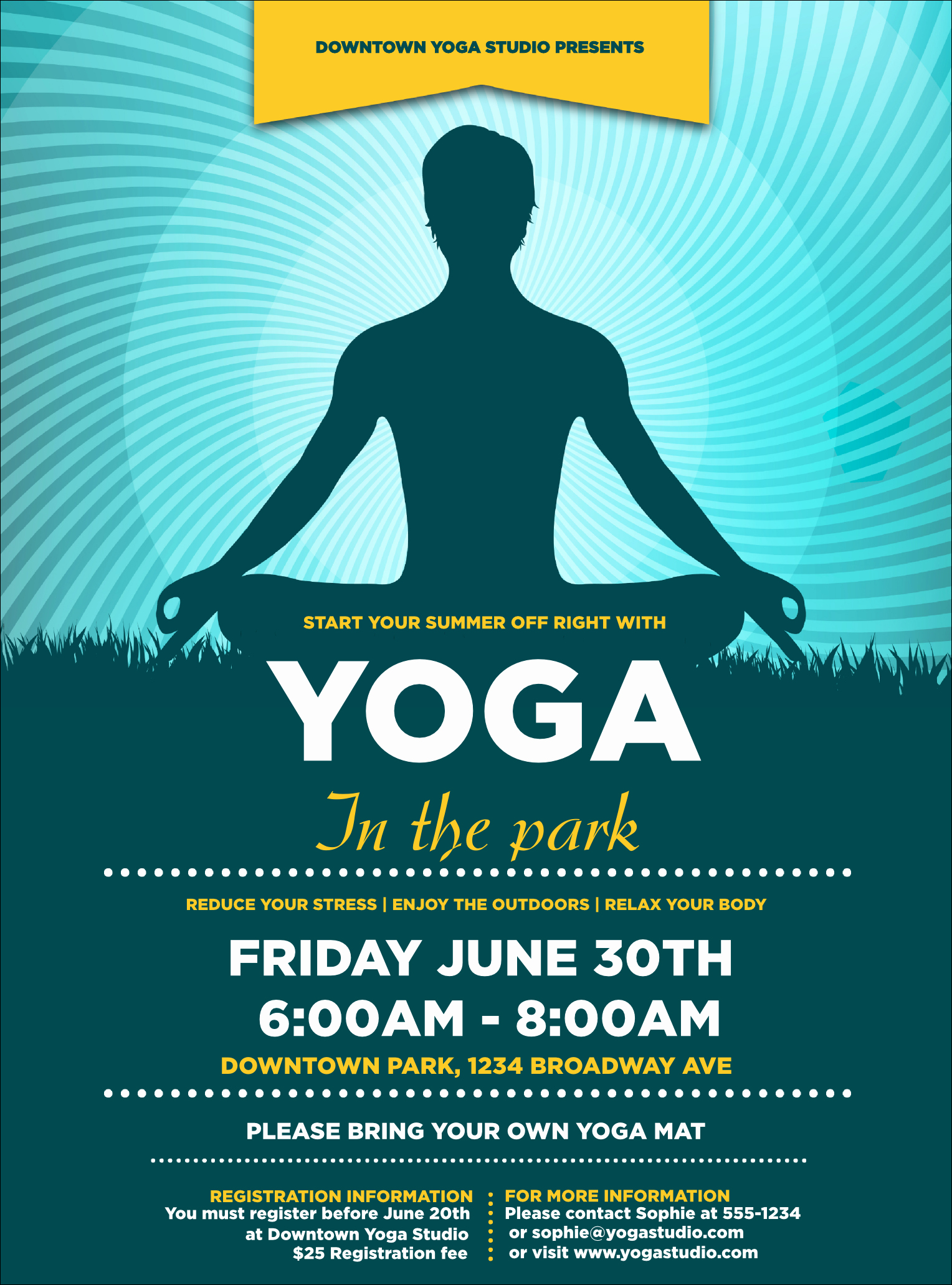 Yoga Flyer Template Free Awesome Yoga Meditation Flyer