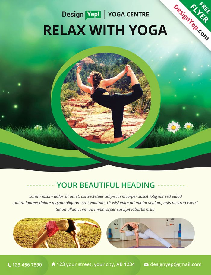 Yoga Flyer Template Free Beautiful 32 Free Business Flyer Templates Psd for Download Designyep