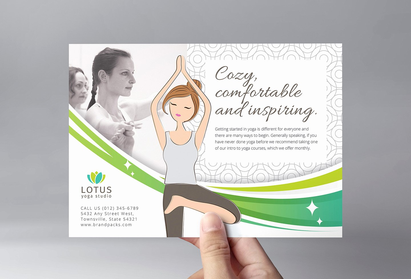 Yoga Flyer Template Free Beautiful Yoga Studio Flyer Template In Psd Ai & Vector Brandpacks