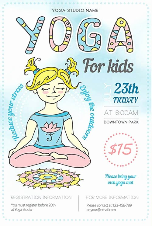 Yoga Flyer Template Free Best Of Yoga Fitness Illustration Free Flyer Template Download