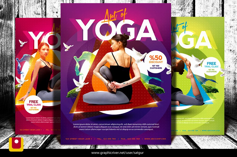 Yoga Flyer Template Free Elegant Simple Yoga Flyer Template V3 by Satgur On Deviantart