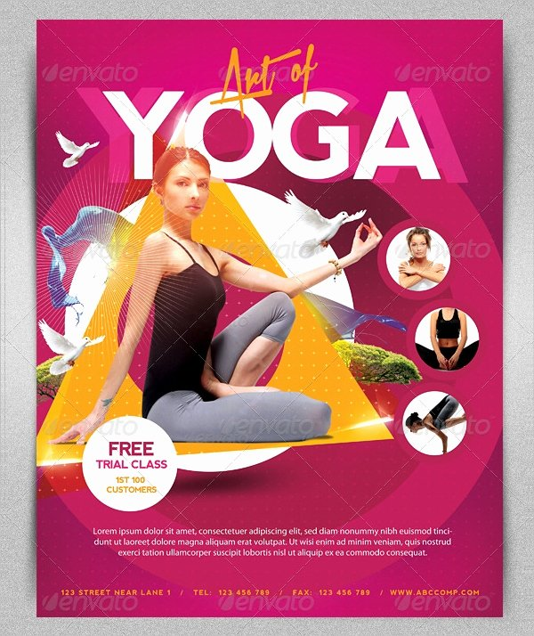 Yoga Flyer Template Free Fresh 18 Yoga Flyer Template Free Psd Ai Vector Eps format