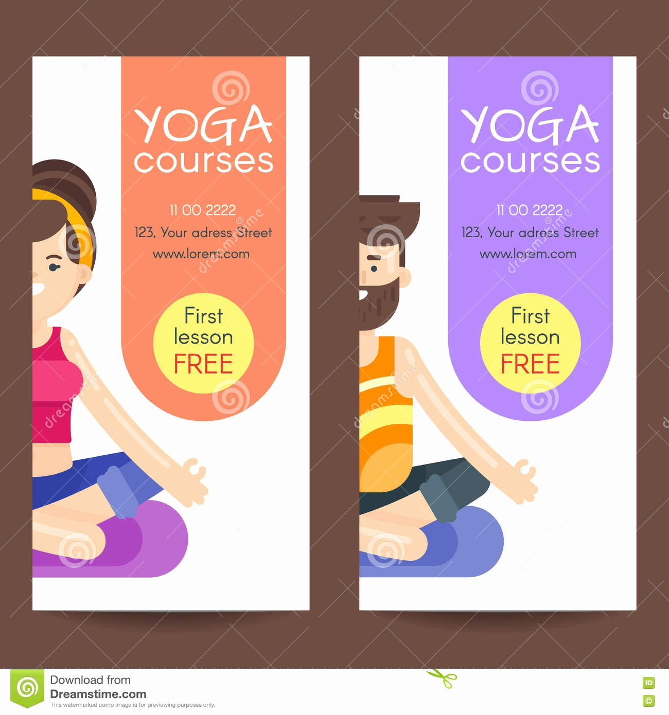 Yoga Flyer Template Free Fresh Vector Flat Style Design Template for Yoga Flyer Stock