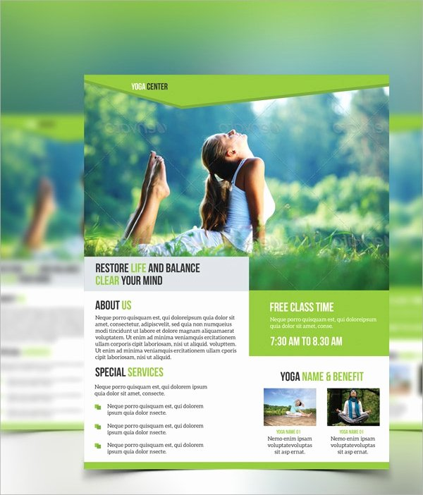 Yoga Flyer Template Free Inspirational 21 Yoga Flyer Templates