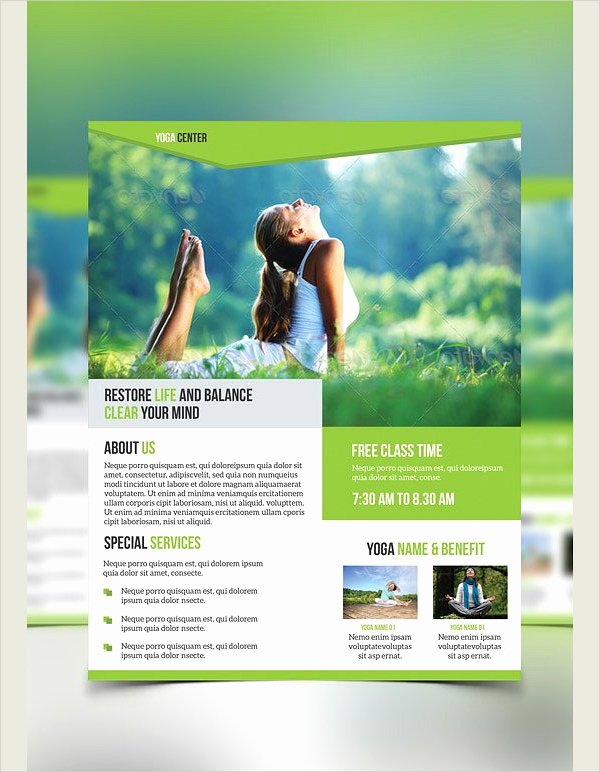 Yoga Flyer Template Free Lovely 20 Yoga Flyer Free Permium Psd Vector Png Eps Ai Jpg