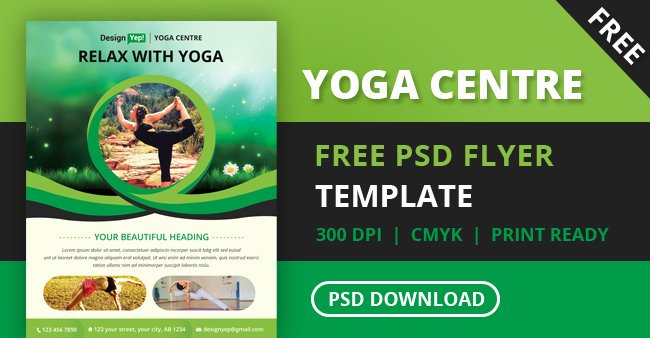Yoga Flyer Template Free Lovely Free Yoga Flyer Psd Template for Download Designyep