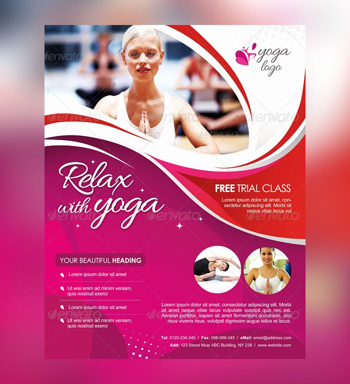 Yoga Flyer Template Free Luxury 23 Yoga Flyer Psd Templates Free & Premium Designyep