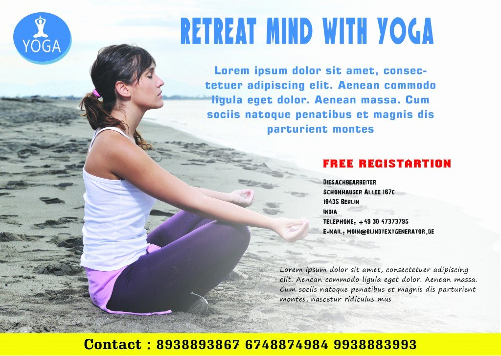 Yoga Flyer Template Free New 20 Distinctive Yoga Flyer Templates Free for Professionals